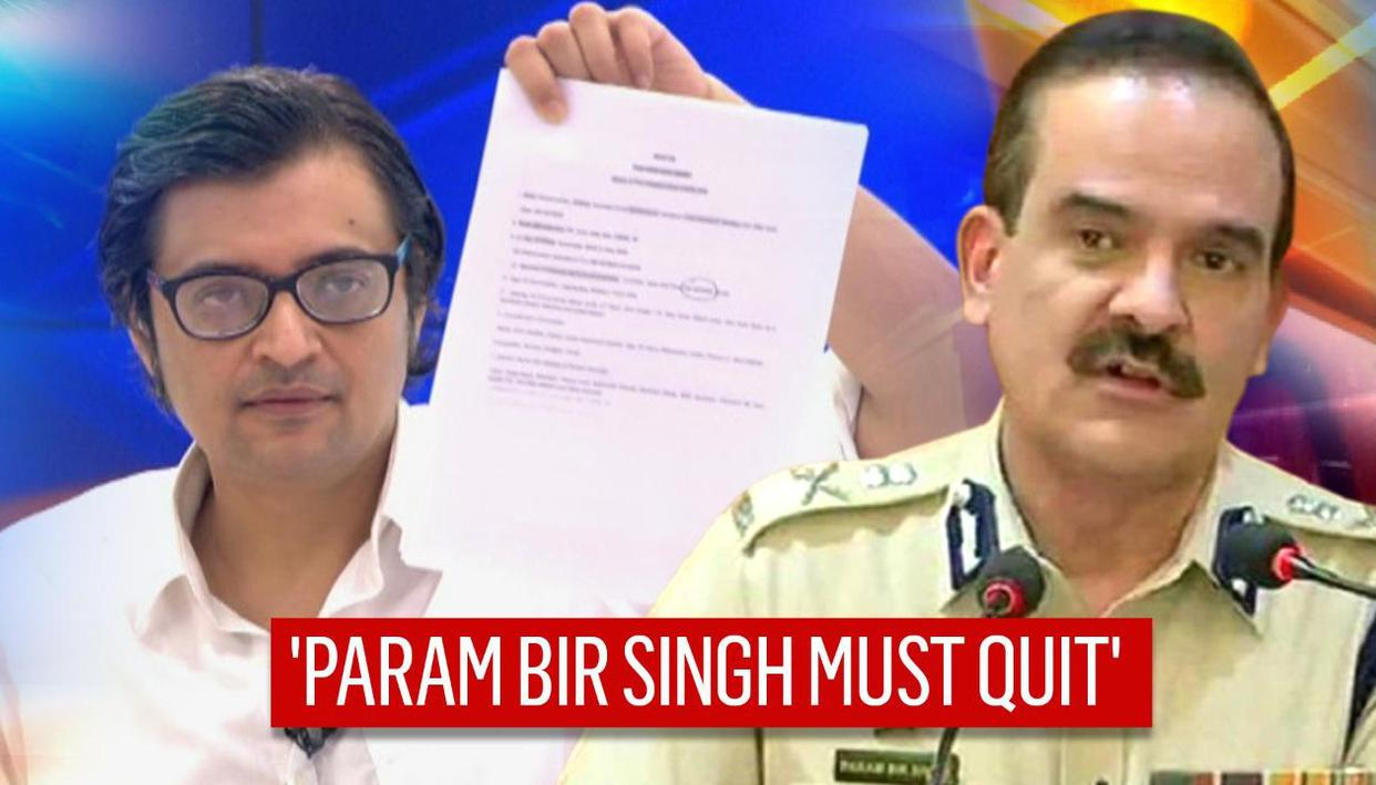 STATEMENT: India Today in FIR, Arnab Goswami demands Param Bir Singh's  resignation