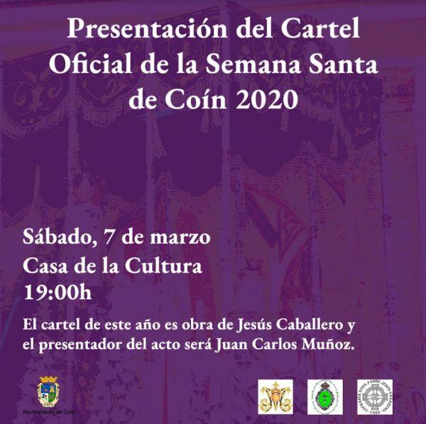 Cartel de Semana Santa en Coín 2020