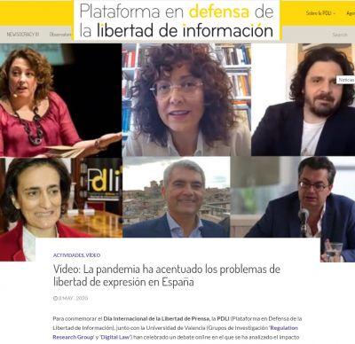 Debate sobre la Libertad de Prensa durante la alarma por el coronavirus