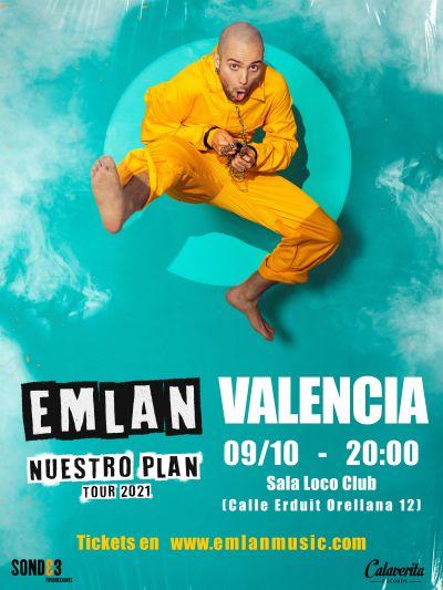 Emlan presentará 'Nuestro Plan' en el Loco Club de Valencia el próximo sábado 9 de octubre