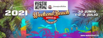 Weekend Beach Festival los días 1, 2 y 3 de julio de 2021