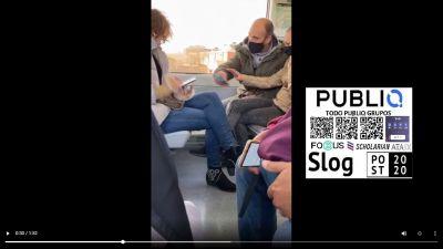 Discusión en el metro por culpa de las mascarillas