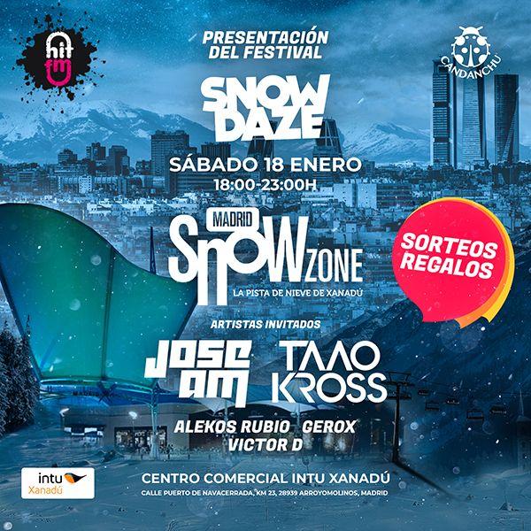Snowdaze 2020 se presentará el sábado 18 de enero en Madrid Snowzone Xanadú