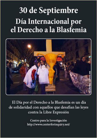 El 30 de Septiembre, Día Internacional por el Derecho a la Blasfemia