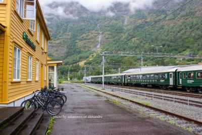 August 2019. Flam. Norway - Flamsbana - Flåm's world-famous train