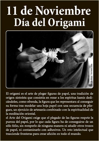 11 de Noviembre, Día del Origami