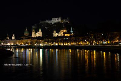 My trip to Austria. Evening photo of Salzburg