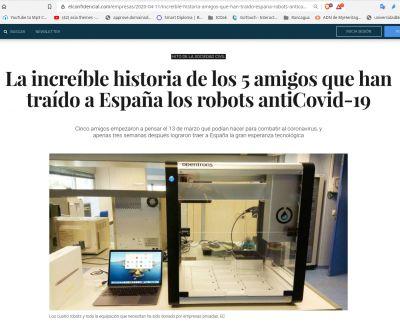 Cómo cinco amigos consiguen robots opensource para realizar hasta 70.000 tests anti-Covid19 a la semana