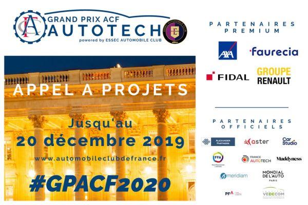 Les 6 finalistes du Grand Prix ACF AutoTech 2020