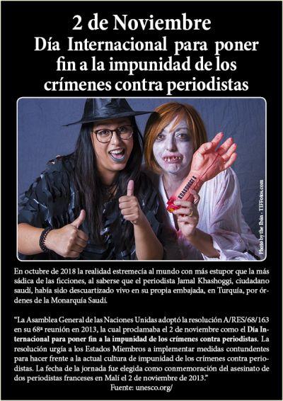 2 de Noviembre: Día Internacional para poner fin a la impunidad de los crímenes contra periodistas