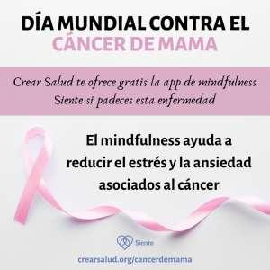 Crear Salud regala la app 'Siente' a todas las personas afectadas por el cáncer de mama