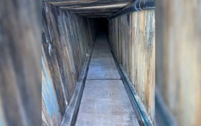 Narcotunel con servicios básicos encontrado en la frontera México-EEUU
