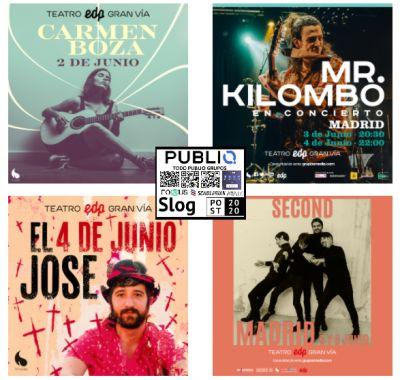 Música el Teatro EDP Gran Vía de Madrid en junio 2021