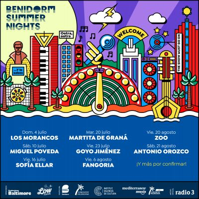 Confirmaciones para Benidorm Summer Nights 2021