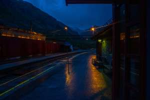 The gloomy station of Myrdal. Photo from Norway
