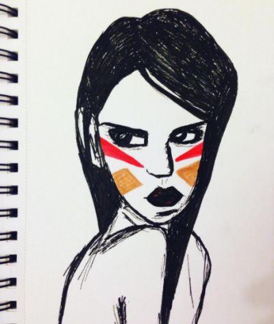 The angry girl.
