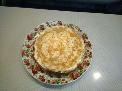 The recipe cake from cookies