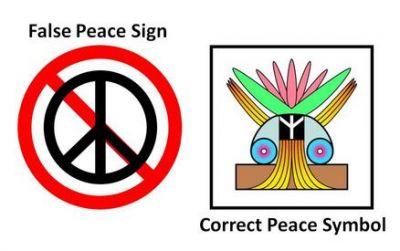 THE  CORRECT  PEACE   SYMBOL