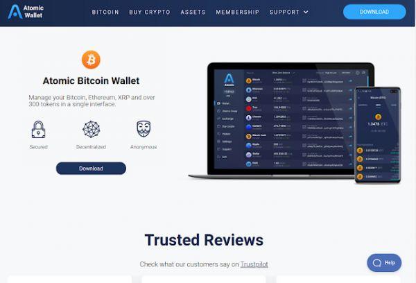 Atomic Wallet, 300 kriptotxanpon baino gehiagorako wallet-a