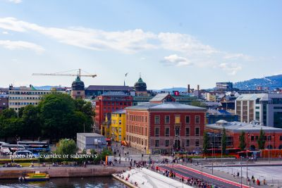 Norway. Oslo. August 2019. View on city from opera house