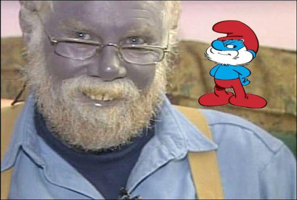 Sabias que existe un papá Pitufo en la vida real?.